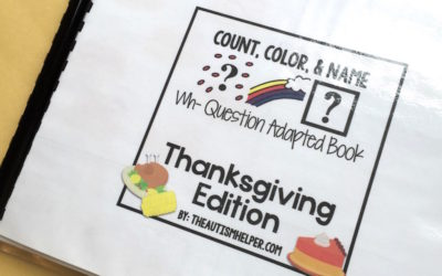 Thanksgiving Count, Color, & Name Adapted Book
